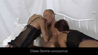 High horny threesome fuck Milf mother