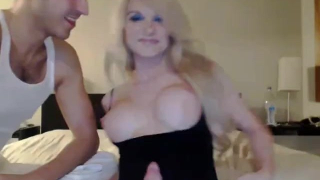 Transsexual free clips - Blonde tranny enjoys ass drilling