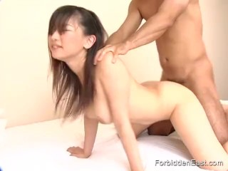huge asian tits bent over - Sexy Asian babe is bent over for a good hard fucking