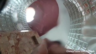 Mack shower christy masturbation tits solo