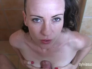 POV Spitting Handjob&TittyFuck Cum On Breast-Hottest Mom Sylvia Chrystall.