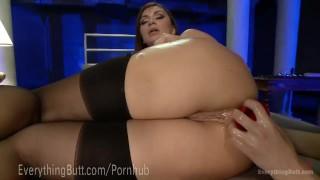 Lesbian hot anal bliss huge plug