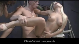 Horny their working tease to chicks in three nasty neighbor fuck 3some hot