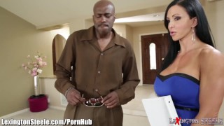 Takes on jade milf cock of black jewels inches on tits