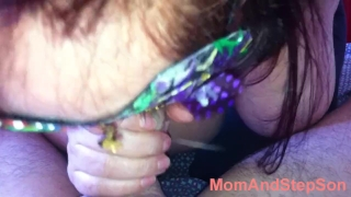 Mom Cum in Mouth Blowjob Mom And Step Son