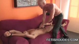 Gay bondage hytch and pegging and gabriel cawke daddy leather