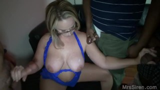 Screen Capture of Video Titled: Wife Blowbang at Club