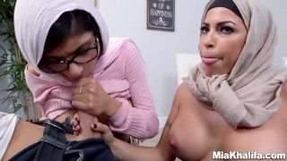 Mia Khalifa stepmom Juliana Vega fucks and sucks her boyfriends cock Heels lingerie