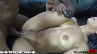 Babe ebony black immorallive a huge cock muscled fucking bbc woman