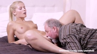 Elena can't believe how good this old man is at having sex Mouth licking