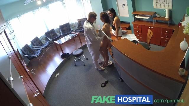 Lesbian nurse uniform - Fakehospital nurse seduces patient and enjoys licking her pussy