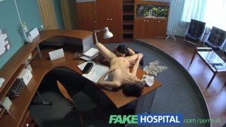 Seduces pussy enjoys licking nurse and patient her fakehospital hospital cameras