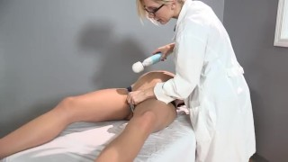Sadie Holmes Pregnant - Doctor helps her patient to reach Orgasm Toys rough