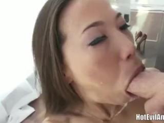 Kalina ryu gives sloppy blowjob...
