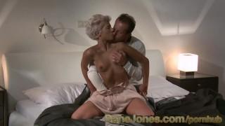Screen Capture of Video Titled: DaneJones Classy babe fucks older lover