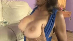 Brunette Milf Milks A Young Big Dick