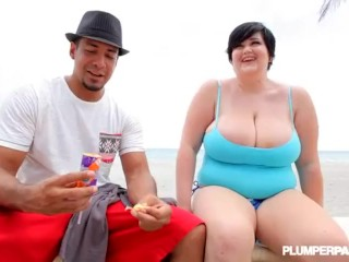 Huge Tit MILF BBW Sucks Ice Cream Cone and Huge BBC DICK