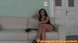 FakeAgent Glamour girl milks big bock in Casting interview