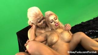 Britney fun makeup lesbian amber boobs tits