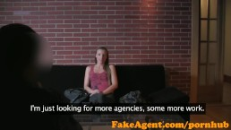 FakeAgent Horny Mum freaks out after she's creampied in Office