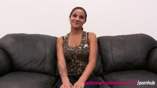 EXCLUSIVE FULL VIDEO - Incredible Audrey on Backroom Casting Couch porno