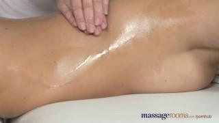 Massage Rooms Stunning blonde has intense lesbian encounter