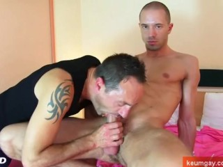Don't stop to suck his huge cock !