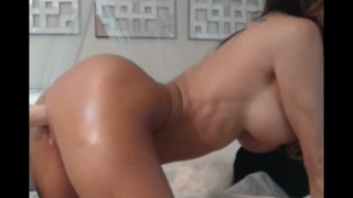 Babe riding fuck machine