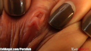 EvilAngel Close Up Pussy and Masturbation