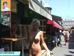 Hot blonde babe vanessa naked on public streets