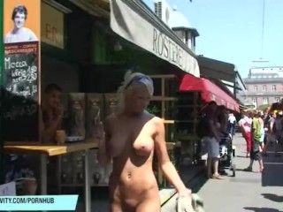 Hot blonde babe vanessa naked on public streets