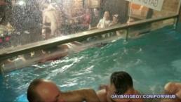 swimming pool gangbang-gay