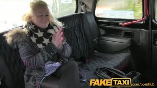FakeTaxi British blonde gives taxi driver blowjob