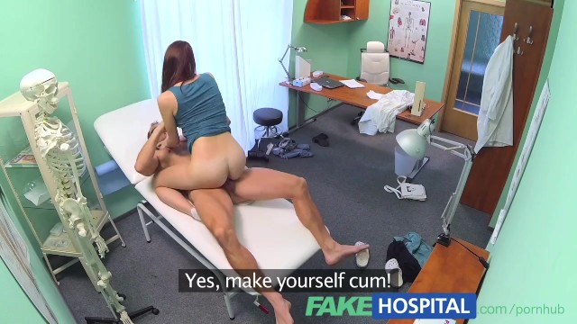 Doctor helps patient jack off - Fakehospital horny sexy slim patient wants doctors cock after catching him