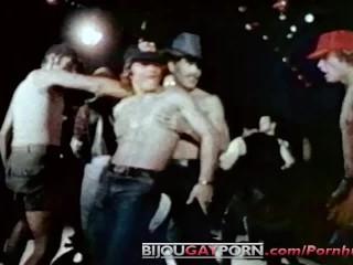Seventies gay disco threeway grease monkeys 1979...
