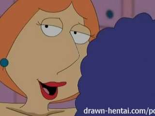 Preview 3 of Lesbian Hentai - Marge Simpson and Lois Griffin