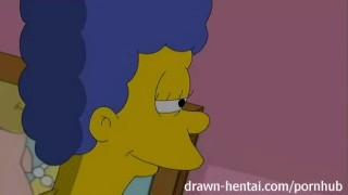 Lesbian Hentai - Marge Simpson and Lois Griffin  strapon big dick anime lois griffin doggy cartoon fingering shaved threesome blue hair pussy eating tv family guy marge simpson drawnhentai simpsons