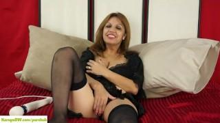 Latina Wife Marissa Vazquez Magic Wand Masturbation
