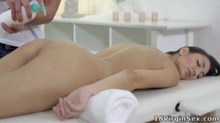 Tight pussy Nika has her masseuse take her virginity Anal adriana