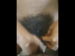 Preview 5 of fucking my haitian gf with her hairy pussy