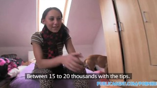 Publicagent Sexy teen fucks cable guy in her bedroom