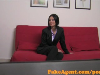 Preview 2 of FakeAgent Hot mature teacher loves getting spanked and fucked in Casting