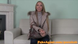 FakeAgent Saucy blonde amateur gets Jizz all over her sweet ass and pussy