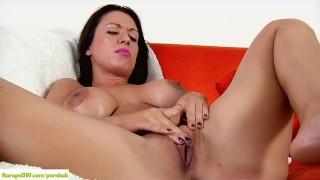 Big Titted MILF J Love Fingers Clit