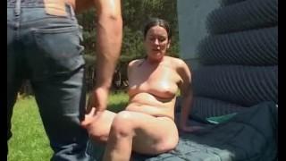 FarmBoy Gets Tall Mature Slut Horny