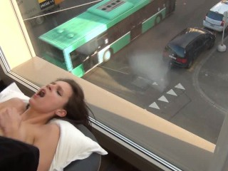 OMG! PUBLIC ANAL FUCK at the window!