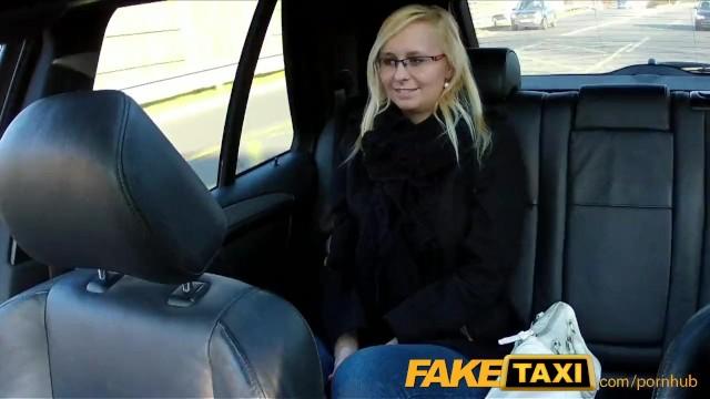 Taxi driver fucks blode bimbo - Faketaxi taxi driver fucks glasses blonde on backseat