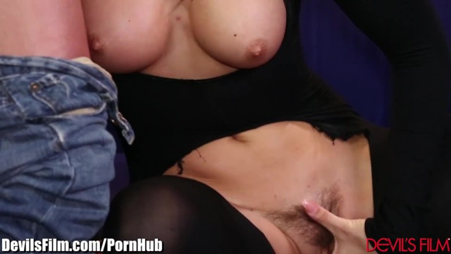 Cum on her bush Devilsfilm rilynn rae gets cum on her bush