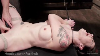 Predicament slut rope orgasm bdsm bound