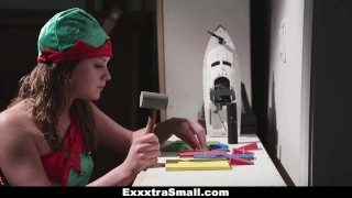 Exxxtra Small - Stuffing Lizzie Bell's Extra Small Stocking!